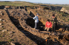 Archaeological excavation . Asturias Royalty Free Stock Photos