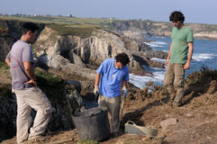 Archaeological excavation . Asturias Royalty Free Stock Images