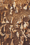 Archaeological excavation, detail of an ancient exploration, prehistory Stock Photos