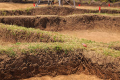 Archaeological excavation Stock Images
