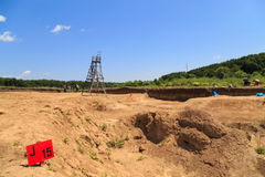 Archaeological excavation Royalty Free Stock Photo