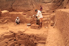 Archaeological excavation Royalty Free Stock Images