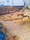Archaeological excavation in lorsch, germany Stock Photos