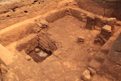 Archaeological excavation site Stock Images