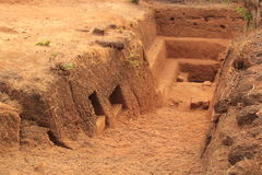 Archaeological excavation site Stock Image