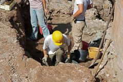 Archaeological excavations Stock Photography