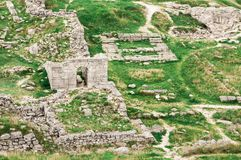 Archaeological excavations of an ancient structure. Crimea, Mith. Ridates Stock Photo