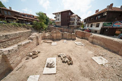 Archaeological excavations of the ancient town of Nessebar in Bulgaria Stock Photos