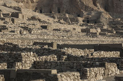 The archaeological excavations of Deir el Medina Royalty Free Stock Photo