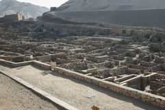 The archaeological excavations of Deir el Medina Stock Image