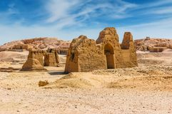 Archaeological excavations in the desert. Cairo. Giza. Egypt. Tr. Avel background Royalty Free Stock Photography