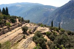 Archaeological excavations in Greece Delphi Royalty Free Stock Photography