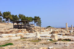 Archaeological excavations, national park Zippori, Galilee, Israel. Archaeological excavations and ruins of the ancient roman- and talmudic-era city of Zippori Royalty Free Stock Photo
