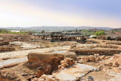 Archaeological excavations, national park Zippori, Galilee, Israel. Archaeological excavations and ruins of the ancient roman- and talmudic-era city of Zippori Stock Photos