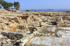 Archaeological excavations, national park Zippori, Galilee, Israel. Archaeological excavations and ruins of the ancient roman- and talmudic-era city of Zippori Stock Photography