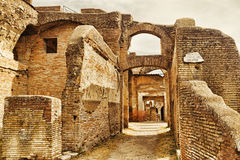 Archaeological excavations in Ostia Antica: Caseggiato of Serapide. Rome - Italy Stock Images