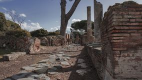 Archaeological excavations of Ostia Antica, Rome Italy royalty free stock photo