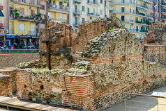 Archaeological excavations of the palace of the Roman Emperor Ga Royalty Free Stock Photos