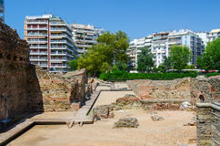 Archaeological excavations of palace of Roman Emperor Galerius Royalty Free Stock Photography