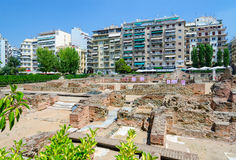 Archaeological excavations of palace of Roman Emperor Galerius Stock Photo