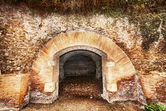 Archaeological excavations of the port of Trajan and Claudius. In Rome - Italy royalty free stock photography