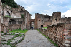 Archaeological excavations in the Roman Forum, Rome, Italy Stock Photo