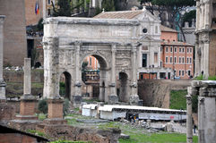Archaeological excavations in the Roman Forum, Rome, Italy Royalty Free Stock Images