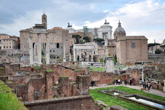 Archaeological excavations in the Roman Forum, Rome, Italy Royalty Free Stock Photos