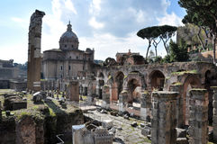 Archaeological excavations in the Roman Forum, Rome, Italy Stock Image