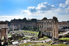 Archaeological excavations in the Roman Forum, Rome, Italy Stock Images