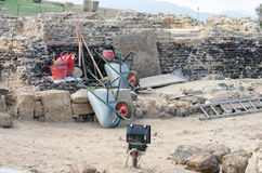 Archaeological Excavations Royalty Free Stock Photo