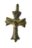 Archaeological find Christian crosses Stock Images