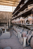Archaeological finds in Pompeii, the ancient Roman city Royalty Free Stock Image