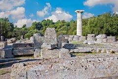 archaeological greece olympialokal Arkivbild