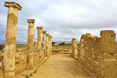 The Archaeological Helenistic and Roman site at Kato Paphos in Cyprus. Stock Photos