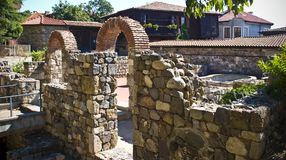 Archaeological historical old ruins find in Sozopol, Bulgaria Royalty Free Stock Photography