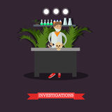 Archaeological investigations concept vector illustration in flat style Royalty Free Stock Photos