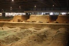 archaeological krigare för porslinmuseumterrakotta Royaltyfria Foton