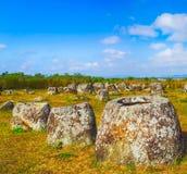 The Plain of jars. Laos. Archaeological landscape The Plain of jars. Laos Stock Photography