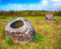 The Plain of jars. Laos Stock Images