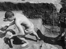 archaeological lokal Arkivbilder