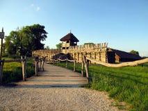 Archaeological museum Biskupin Royaltyfria Foton