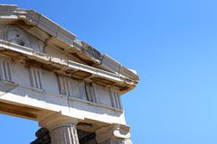Archaeological Museum of Delos in the Cyclades island royalty free stock photo