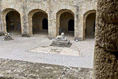 Archaeological museum of Rhodes stock image