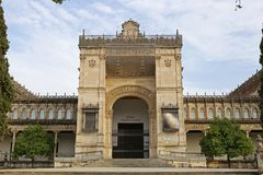 The archaeological museum of Seville. In the Maria Luisa Park is one of the most beautiful constructions. It is located in the area of the park known as square Stock Photos