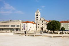 The Archaeological museum, St. Mary`s Church and other buildings royalty free stock photo