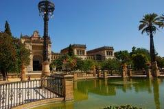 archaeological museumpark seville för I luisa maria royaltyfri foto