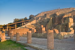 The archaeological and nature Park of Pausilypon, Naples Stock Images