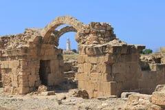 Archaeological park Arkivfoton