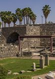 Archaeological Park in  in the city's center of Tiberias  Royalty Free Stock Photo